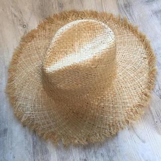 麦わら帽子 フリンジハット   B(麦わら帽子/ストローハット)