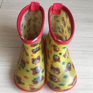 長靴 15.0センチ クマ柄 男女兼用 子供用 レインシューズ(長靴/レインシューズ)