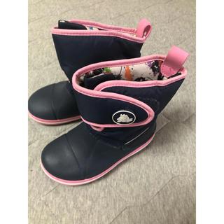 クロックス(crocs)のクロックス キッズ レインブーツ ブーツ ネイビー 18cm C11 (長靴/レインシューズ)