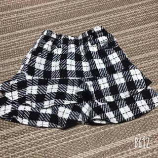 ギンガムチェック 千鳥柄 スカート 110cm(スカート)