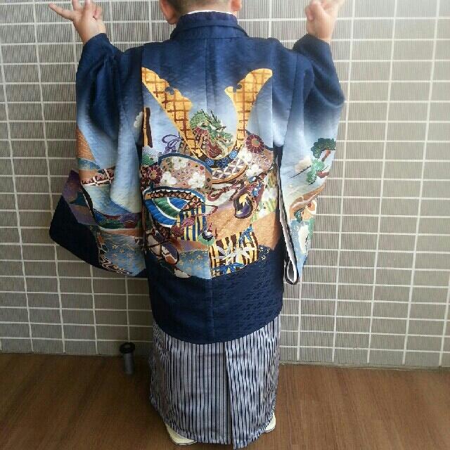 お祝い着 七五三 男児トータルセット キッズ/ベビー/マタニティのキッズ服 男の子用(90cm~)(和服/着物)の商品写真