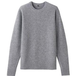 MUJI (無印良品) - 無印良品 ヤク混ウール ワッフル編みセーター