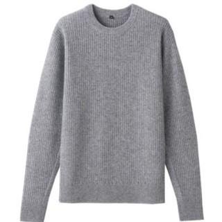 ムジルシリョウヒン(MUJI (無印良品))の無印良品 ヤク混ウール ワッフル編みセーター(ニット/セーター)