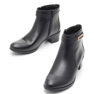 サヴァサヴァ(cavacava)の新品 定価19,980円 cavacava 牛革ブーツ 黒orダークブラウン(ブーツ)