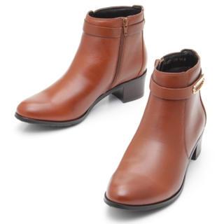 サヴァサヴァ(cavacava)の新品 定価19,980円 cavacava 牛革ブーツ マロンブラウン22.5〜(ブーツ)