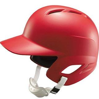 【新品】少年硬式野球用ヘルメット 両耳付 BHL270 レッド(防具)