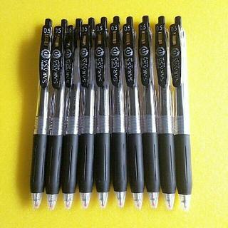 ゼブラ(ZEBRA)のゼブラ ジェルボールペン サラサクリップ 0.5 黒 10本(ペン/マーカー)