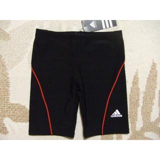 アディダス(adidas)の新品★adidasアディダス★110★ボーイズスクール水着(ブラック×レッド)黒(水着)