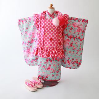 メゾピアノ(mezzo piano)の七五三  着物  3歳  女の子  被布  mezzo piano  4001(和服/着物)