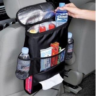 ★新品 車用シートバッグ ポケット 保冷保温機能 座席収納ラック ブラック