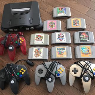 ニンテンドウ64(NINTENDO 64)の任天堂 64 カセット コントローラー 本体(家庭用ゲーム本体)