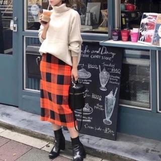 ZARA - インスタ話題♡大人可愛い♡秋色♡チェック柄♡ペンシルスカート