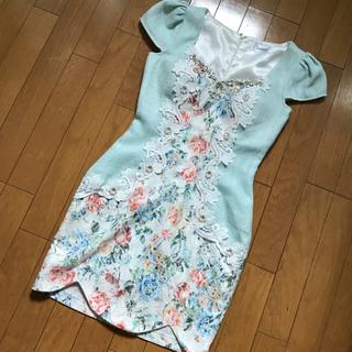 ジャスミン(ジャスミン)の美品☆Jasmine キャバドレス ワンピース 花柄(ナイトドレス)