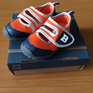 BLUE AZUR 子供靴 サンダル 14.0cm オレンジ(サンダル)
