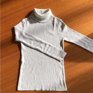 ジャイロホワイト(JAYRO White)のタートルネック セーター シルバー(ニット/セーター)