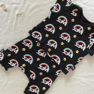 エックスガールステージス(X-girl Stages)の【X-girl stages】Tシャツパンツセット 70cm(Tシャツ)