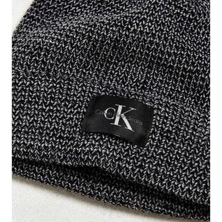 カルバンクライン(Calvin Klein)のカルバンクライン ニット帽 ビーニー CK Calvin Klein グレー(ニット帽/ビーニー)