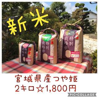 新米☆大粒☆特A取得☆宮城県産つや姫2キロ(米/穀物)
