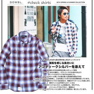 ダブル(DOWBL)のDOWBLスタッズチェックシャツ(シャツ)