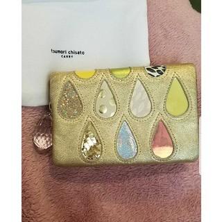 ツモリチサト(TSUMORI CHISATO)のツモリチサト キャリー 財布 ミニウォレット ドロップス ゴールド (財布)