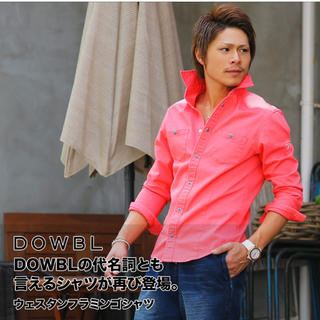ダブル(DOWBL)のDOWBLフラミンゴシャツ(シャツ)