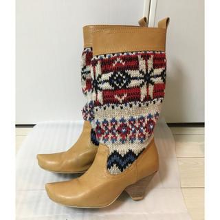 スナオクワハラ(sunaokuwahara)のsunaokuwahara 毛糸編み ブーツ (ブーツ)
