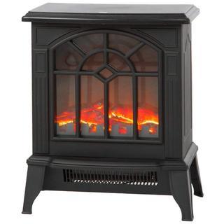 ほのぼのと暖かいムードを醸し出す 暖炉型 ストーブ 2段階切替(ファンヒーター)