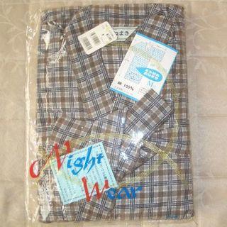 【未使用】メンズ 寝巻き ねまき ネル Mサイズ 日本製 浴衣タイプ(浴衣)