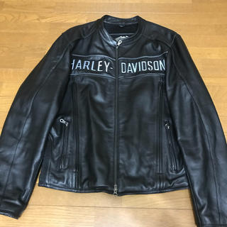 ハーレーダビッドソン(Harley Davidson)のハーレーダビッドソン ハーレー 革ジャン レザージャケット アウター メンズ 黒(ライダースジャケット)
