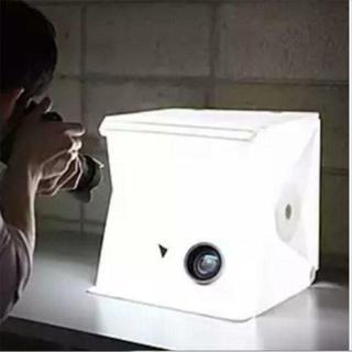 折り畳み・ミニ撮影ボックス・組立式☆LEDライト  ¥1,980送料込すぐに購入(暗室関連用品)