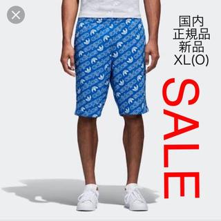 adidas - ORIGINALS トレフォイル総柄 ショーツ CE1553 ブルー XL(O)