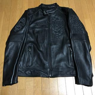 ハーレーダビッドソン(Harley Davidson)のハーレーダビッドソン ハーレー 革ジャン レザージャケット メンズ アウター 黒(ライダースジャケット)
