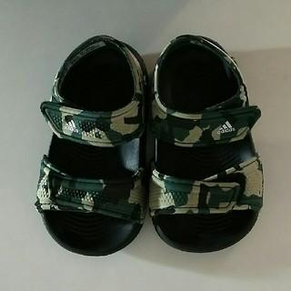 アディダス(adidas)のAdidas アディダス ベビー サンダル 迷彩柄 12㎝  (サンダル)
