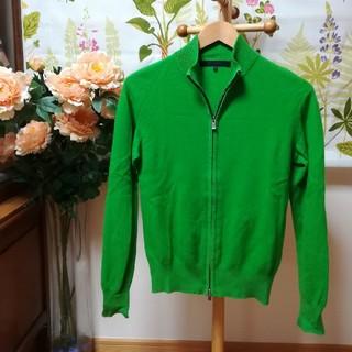 デザインワークス(DESIGNWORKS)の✨DESIGNWORKS(デザインワークス)シルクとカシミアの緑色セーターM(カーディガン)
