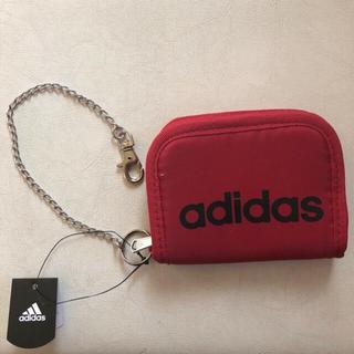 アディダス(adidas)の新品 アディダス 財布 チェーン フック付 adidas ウォレット 赤 レッド(財布)