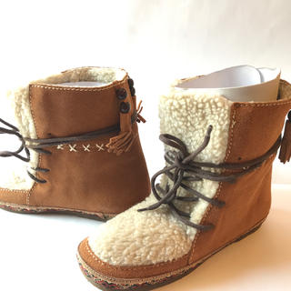 チャイハネ(チャイハネ)の新品 ボア ブーツ LL 24.5 キャメル チロリアン フリンジ チチカカ(ブーツ)