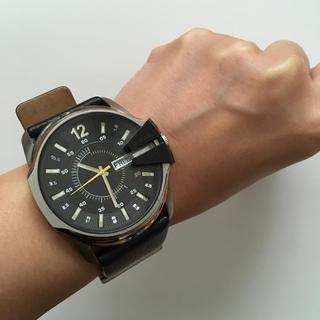 DIESEL メンズ腕時計(レザーベルト)