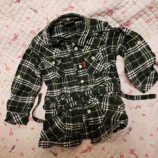 イーストボーイ(EASTBOY)のEAST BOY 美品 チェックシャツ ブラウス グリーン 100cm used(ブラウス)