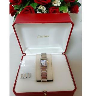 カルティエ(Cartier)のCartier♡♡タンクフランセーズ ピンクゴールドコンビ(腕時計)