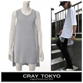 SALE!! CRAY TOKYO グレー スクエアレイヤードタンクトップ