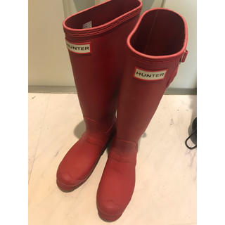 ハンター(HUNTER)のHunter レインブーツ 赤(レインブーツ/長靴)