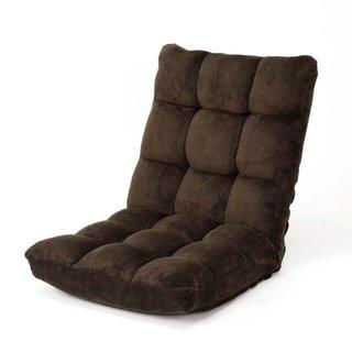 ふわふわフロアチェア42段階調整 幅50㎝ブラウン(座椅子)