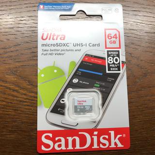 サンディスク(SanDisk)のSandisk  microSDカード 64GB 海外パッケージ品 未開封(その他)