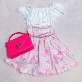 リズリサ(LIZ LISA)のLIZLISA♡ハイウェストスカートオフショルセット(ひざ丈スカート)