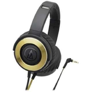 オーディオテクニカ(audio-technica)のオーディオテクニカ SOLID BASS ヘッドホン 密閉型 ブラックゴールド(ヘッドフォン/イヤフォン)
