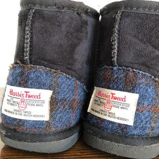 シマムラ(しまむら)のHarris Tweed  しまむらコラボ ムートン風 ブーツ サイズ22cm(ブーツ)