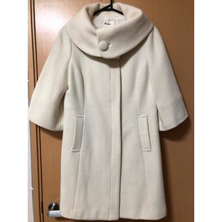 キスミス(Xmiss)の丸襟が可愛い♪レディースコート〈白〉(ロングコート)
