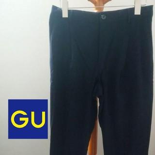 ジーユー(GU)のGU テーパードパンツ(ブラック)(スラックス)