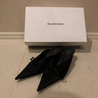 バレンシアガ(Balenciaga)の美品 balenciaga バレンシアガ ナイフ ミュール 36.5(ミュール)