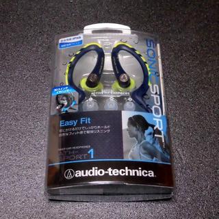 オーディオテクニカ(audio-technica)のインナーイヤーヘッドホン ネイビーイエロー(ヘッドフォン/イヤフォン)